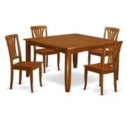 Wooden Importers Parfait 5 Piece Dining Set; Saddle Brown