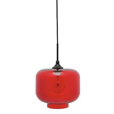 Nuevo Charles 1-Light Mini Pendant; Red
