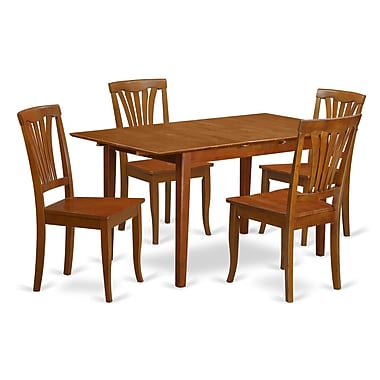 Wooden Importers Picasso 5 Piece Dining Set; Wood Seat