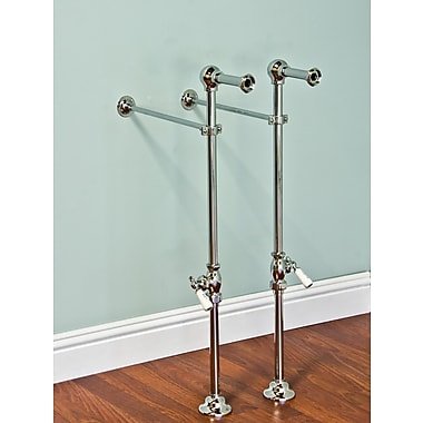 Strom Plumbing by Sign of the Crab Free Standing Leg Tub Supply Set w/ Shutoffs; Polished Nickel