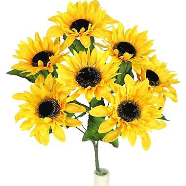 AdmiredbyNature Faux Sunflower Stem Full Bloom
