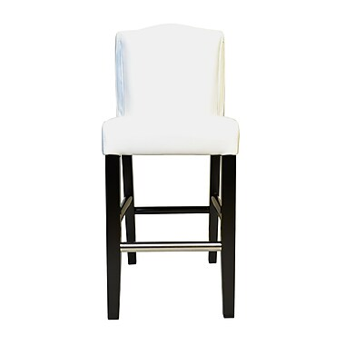 HD Couture Cambria Pillowback Genuine Leather Upholstered Dining Chair (Set of 2); White