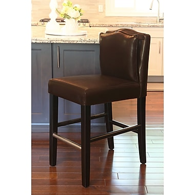 HD Couture Cambria 30'' Bar Stool; Brown