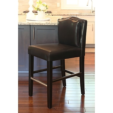 HD Couture Cambria 30.5'' Bar Stool; Black