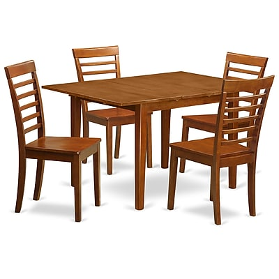 East West Milan 5 Piece Dining Set