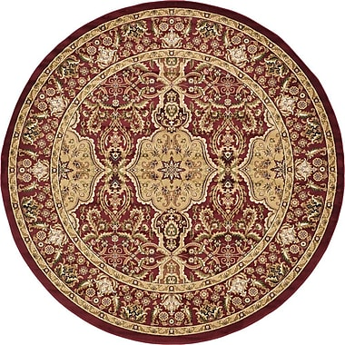 Unique Loom Isfahan Red Area Rug; Round 9'10''