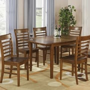 East West Milan Dining Table; Saddle Brown