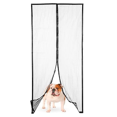 Imperial Home Magic Mesh Magnetic Screen Door w/ Butterfly Style Opening
