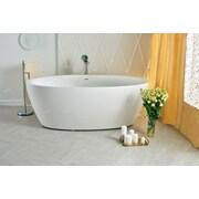 Aquatica Sensuality 69.75'' x 35'' Soaking Bathtub