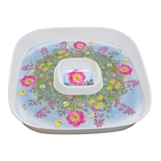 LANG Peony Garden Chip N' Dip Platter with Lid (2096103)