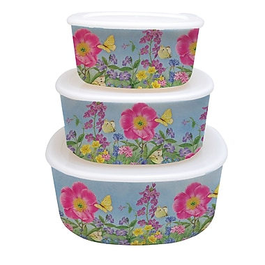 LANG Peony Garden Nesting Bowls with Lids (2110003)