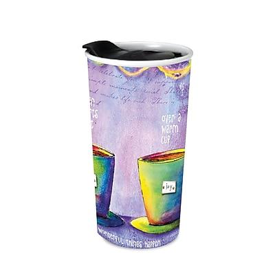 LANG Cuppa Joy Ceramic Traveler Mug (2162005)
