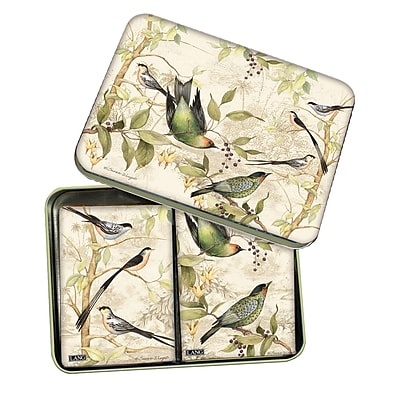 LANG Tropical Birds Tin Playing Cards (2179007)