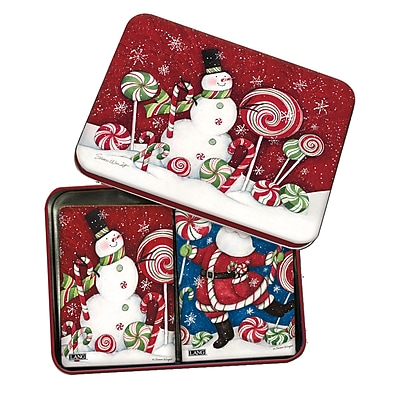 LANG Peppermint Christmas Tin Playing Cards (2179006)