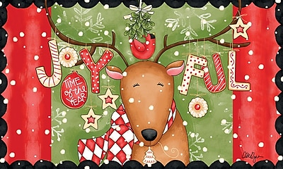 LANG Joyful Reindeer Door Mat (3210034)