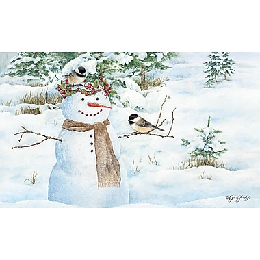 LANG Chickadee Snowman Door Mat (3210021)
