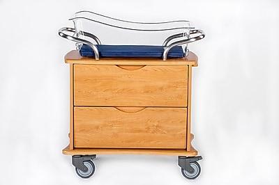 MedViron Hospital Maternity Bassinet, 2-Drawers, with Chartboard, Honey Maple (M21-0010-K448)