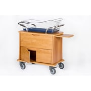 MedViron Hospital Maternity Bassinet, 1-Drawer & 2-Doors, with Chartholder & Chartboard, Honey Maple (M31-0011-K448)