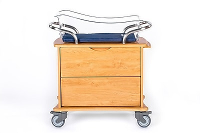 MedViron Hospital Maternity Bassinet, 1-Drawer, with Chartboard, Honey Maple (M11-0010-K448)