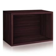 Way Basics Eco Stackable Large Rectangle Shelf and Storage Organizer, Espresso