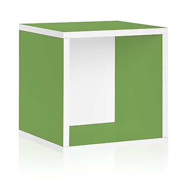 Way Basics Eco Stackable Large Storage Cube and Cubby Organizer, Green