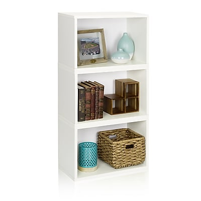 Way Basics Eco Stackable Hillcrest Modular Bookcase and Storage Shelf, White