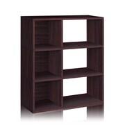 Way Basics Eco 3 Shelf Sutton Bookcase and Cubby Storage, Espresso