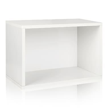 Way Basics Eco Stackable Shelf and Shoe Rack, White