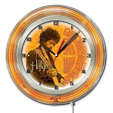 Holland Bar Stool Jimi Hendrix Guitar Double Neon Ring Logo Wall Clock; 19'' H x 19'' W x 5'' D