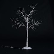 HomCom 47.2'' 48 LED Light Up Holiday Indoor Accent Birch Tree