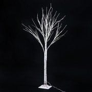 HomCom 59.1'' 48 LED Light Up Holiday Indoor Accent Birch Tree