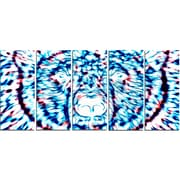 DesignArt Metal 'Psychedelic Bear' Graphic Art