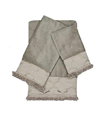 Austin Horn En'Vogue Ascot Decorative Embellished 3 Piece Towel Set