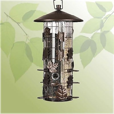 Perky Pet Squirrel-Be-Gone III Caged Tube Bird Feeder