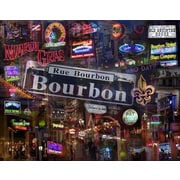 HadleyHouseCo Bourbon Street by Giesla Graphic Art on Wrapped Canvas; 24'' H x 32'' W x 1.5'' D