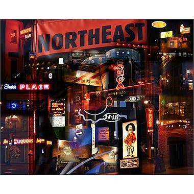 HadleyHouseCo Nordeast Nocturne by Giesla Graphic Art on Wrapped Canvas; 11'' H x 14'' W x 1.5'' D