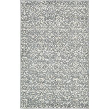 Unique Loom Damask Gray Area Rug; 3'3'' x 5'3''