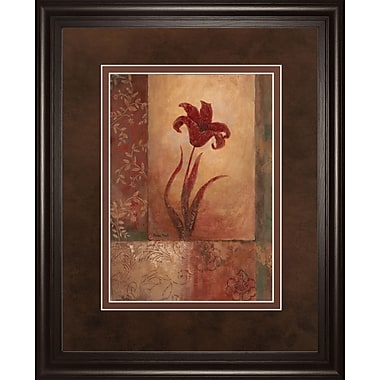 ClassyArtWholesalers Lily Silhouette by Vivian Flasch Framed Painting Print