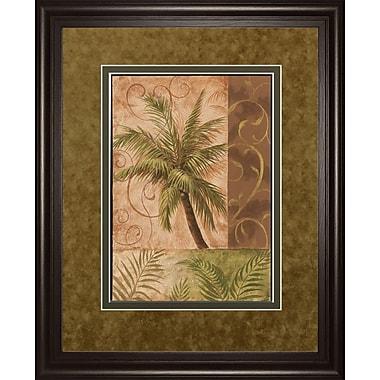 ClassyArtWholesalers Tropical Breeze I by Vivian Flasch Framed Graphic Art