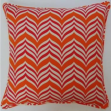 Creative Home Ripple Effect Throw Pillow; Tropic