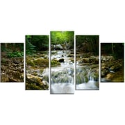 DesignArt Metal 'Natural Spring Waterfall' Photographic Print