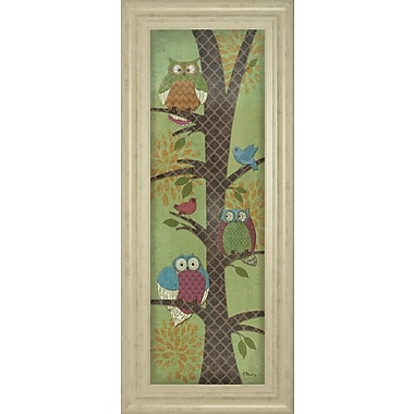 ClassyArtWholesalers Fantasy Owls Panel I by Paul Brent Framed Graphic Art