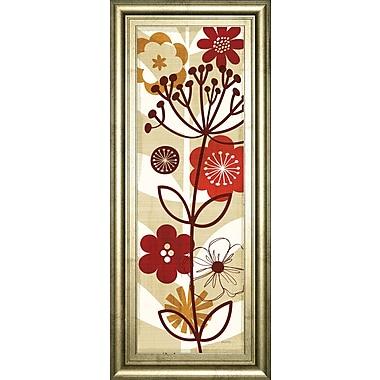 ClassyArtWholesalers Floral Pop Panel II by Mo Mullan Framed Graphic Art