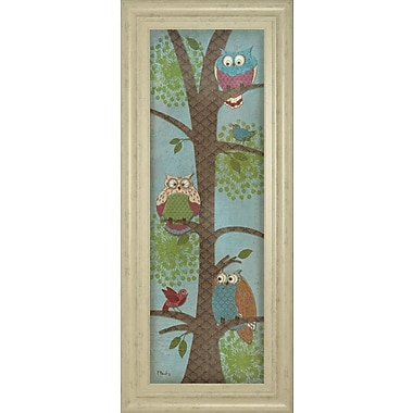 ClassyArtWholesalers Fantasy Owls Panel II by Paul Brent Framed Graphic Art