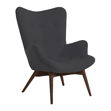 Design Lab MN Mid Century Arm Chair; Dark Grey