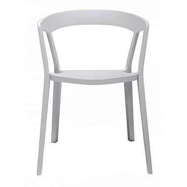 Design Lab MN Arm Chair (Set of 4); Platinum