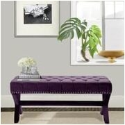 Iconic Home Neil Upholstered Bench; Plum