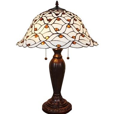 AmoraLighting Jeweled 26'' Table Lamp