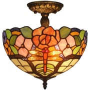 AmoraLighting 2-Light Semi-Flush Mount