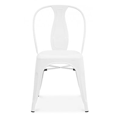 Design Lab MN Side Chair (Set of 4); Glossy White